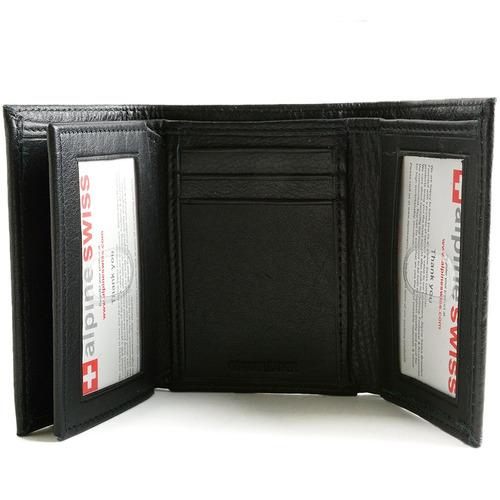alpine swiss mens wallet rfid bloqueo de capacidad adicional