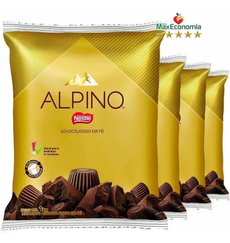 alpino® achocolatado em pó 1kg - kit com 3unidades