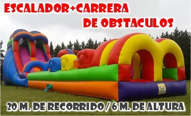 alq. carrera obstáculos - escalador tobogán - cancha - toro