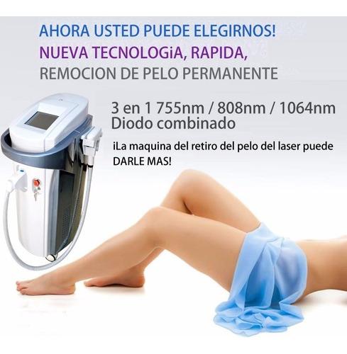 alq. máq. depilacion laser soprano platinum promo cuarentena