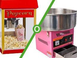 alqilier de maquinas de algodon de azucar y pop corn.