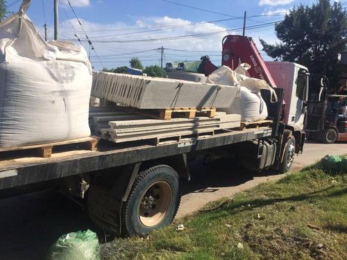 alquier de hidrogua - camion playo con transporte de cargas