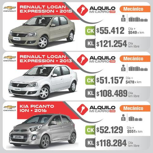 alquila autos con seguro desde $39.000/día y $333 por km