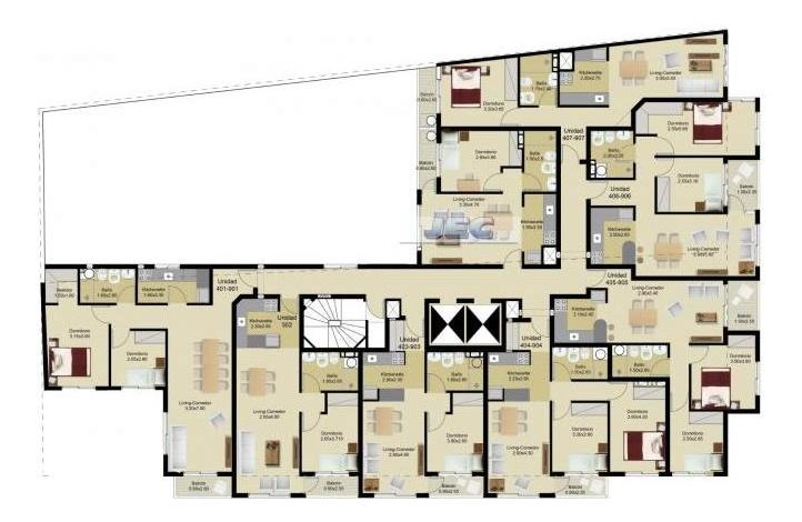 alquiler 2 dormitorios con terraza sobre av.18 de julio