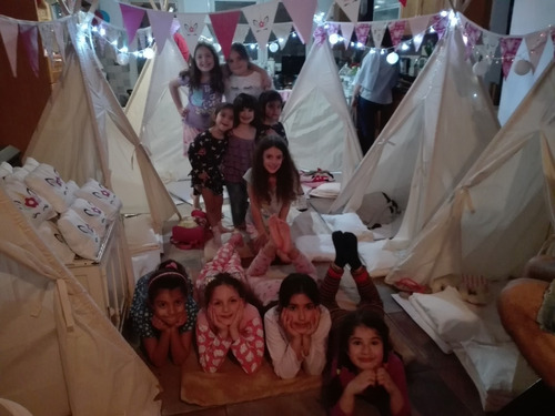alquiler 3 carpas tipi pijamada x6 +1 hora spa regalo 50%off