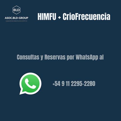 alquiler 6/12hs de himfu+criofrecuencia body health
