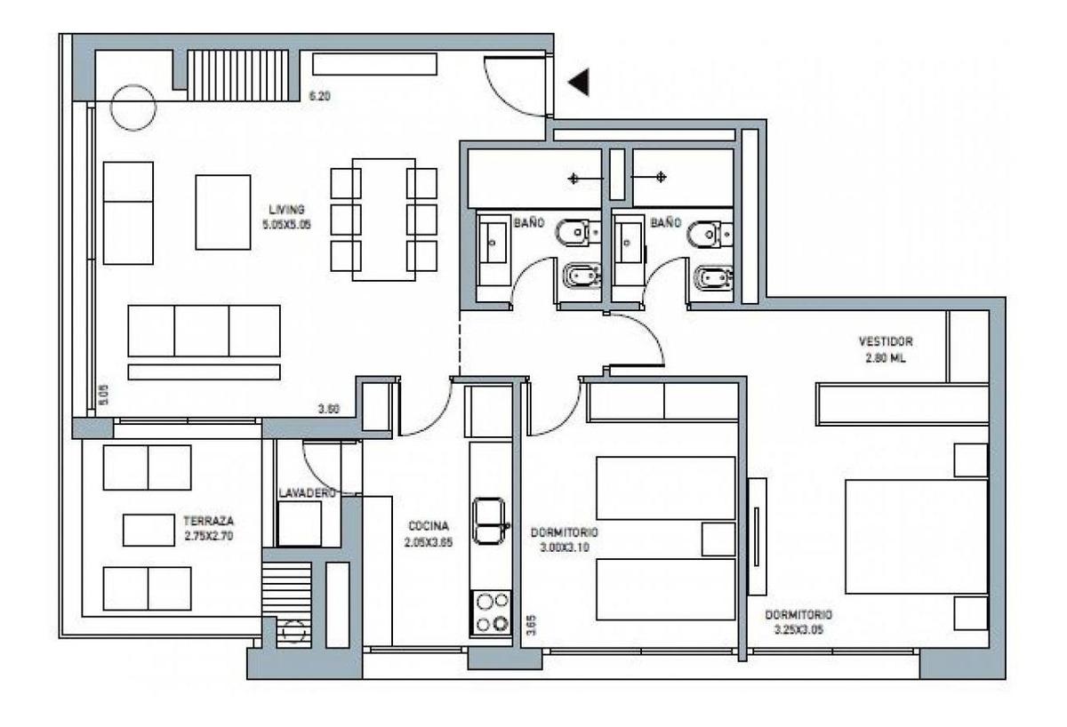 alquiler apartamento 2 dormitorios av. de las americas