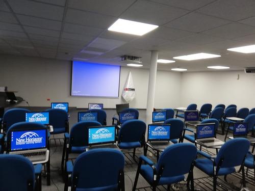 alquiler aulas capacit,confer,semin,tv,ecram,laptop dsd s/29