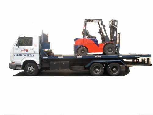alquiler  autoelevadores clarck plataformas brazos transport