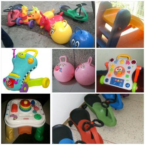 alquiler baby gim, parque little kids y fisher prices 20%