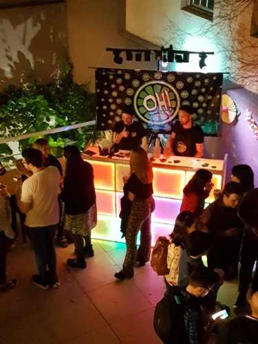 alquiler barra movil de bebidas - incluye luces gratis