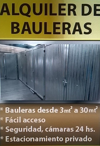 alquiler bauleras villa urquiza - guardamuebles