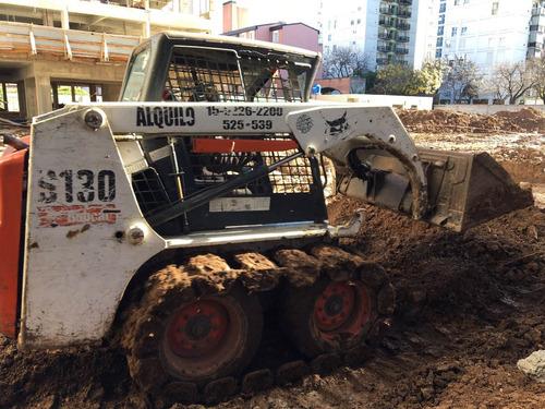 alquiler bobcat hoyadora martillo retro excavacamiónvolc