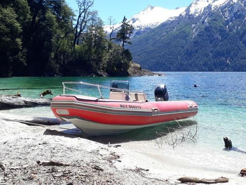 alquiler bote semirrigido en bariloche y la angostura