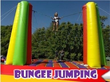 alquiler bungee jumping - samba - toro - reloj - inflables