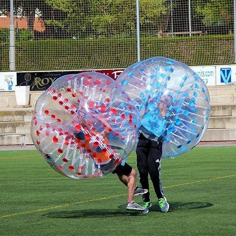 alquiler burbujas inflables futbol - cumple,despedida,evento