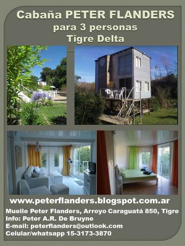 alquiler cabaña y habitaciones tigre islas arr. caraguata