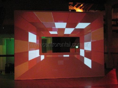 alquiler cabina dj  ideal para proyecciones 3d y mapping