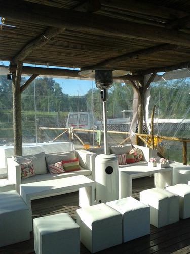 alquiler calefactor estufas calefaccion mesas sillas living