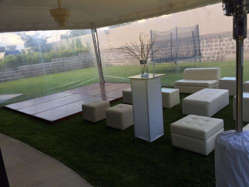 alquiler calefactores de ambiente  salas lounge palets