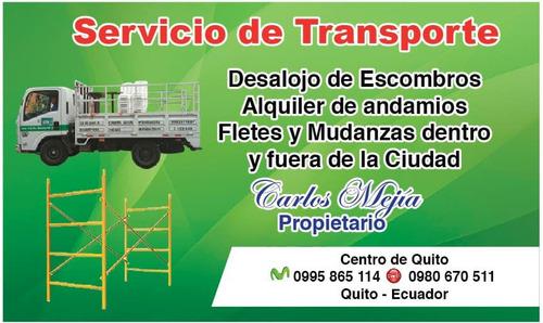 alquiler camion camioneta 2 cabina flete mudanza 0995865114