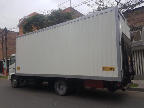 alquiler camión furgon hino, fc/500/1018, 7 tn,color blanco