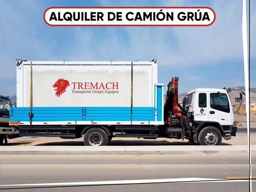 alquiler camión grúa, camiones grúas, barandas rebatibles.