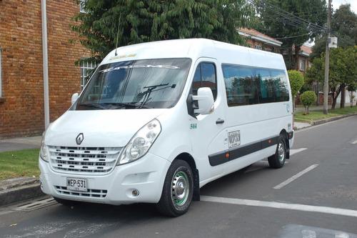 alquiler camioneta renault nueva 18 pasajeros con conductor