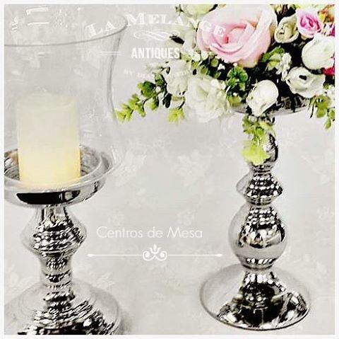 alquiler candelabros cristal centro de mesa fanales telones