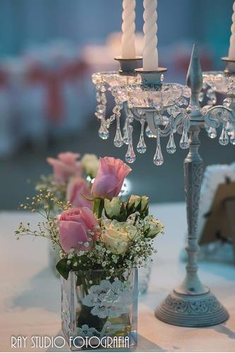 alquiler candelabros fanales jaulitas centro de mesa
