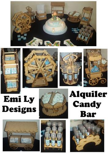 alquiler candy bar cuatro productos a elección