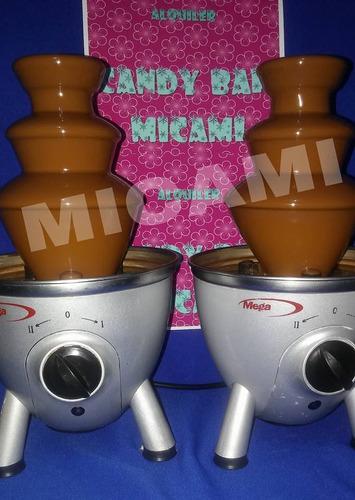alquiler candy bar, mesas, cascadas de chocolate, golosinas