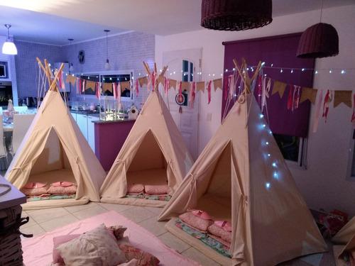 alquiler carpa india infantil pijamadas party cumple promo