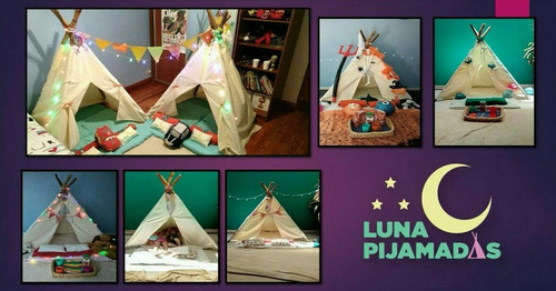 alquiler carpa indio tipi para pijamada pijama party