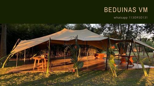 alquiler carpas  beduinas elastica  100% impermeable eventos