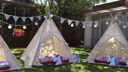 alquiler carpas indias infantiles tipi teepe  pijamada party