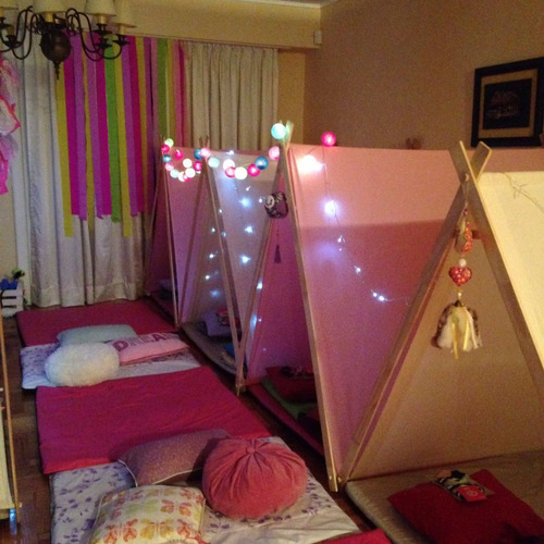 alquiler carpas indias tipi pijama party fiestas cumpleaños