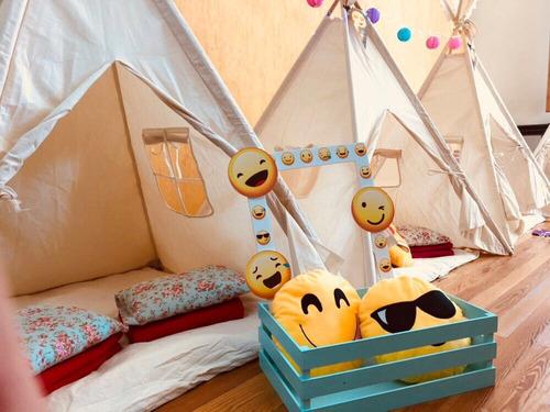 alquiler carpas teepee tipi indias infantiles pijamada party