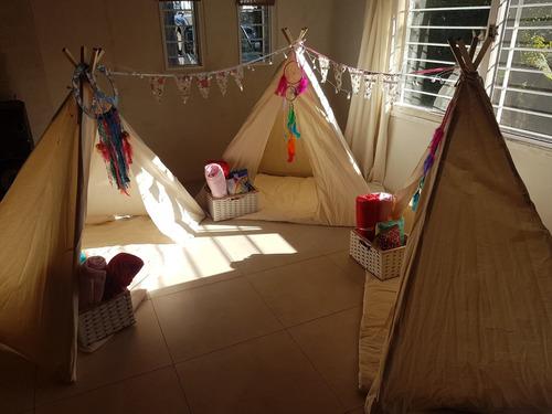 alquiler carpas tipi indias infantiles pijamada party