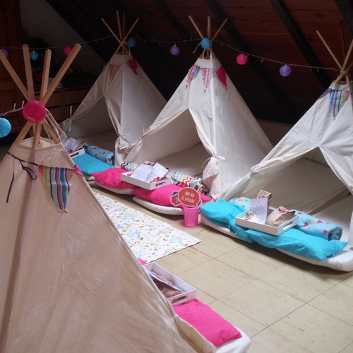 alquiler carpas tipi pijama party animacio pijamada piyamada