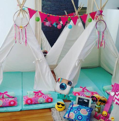 alquiler carpas tipi pijamadas pijama party