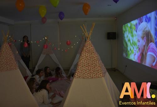 alquiler carpitas tipi pijama party, cumpleaños, eventos
