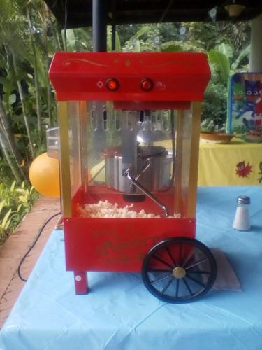 alquiler carrito de cotufas, fuente de chocolate