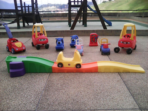 alquiler carritos little tikes y colchones inflables