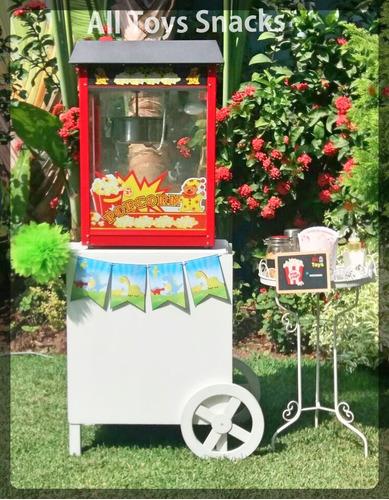 alquiler carritos snack popcorn hamburguesas algodón helados