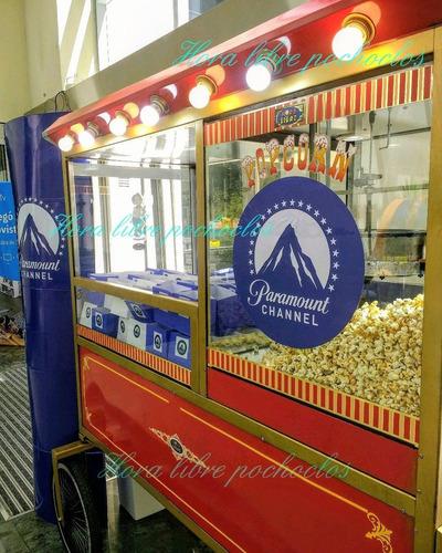 alquiler carro pochoclero copo de azúcar fiestas set film