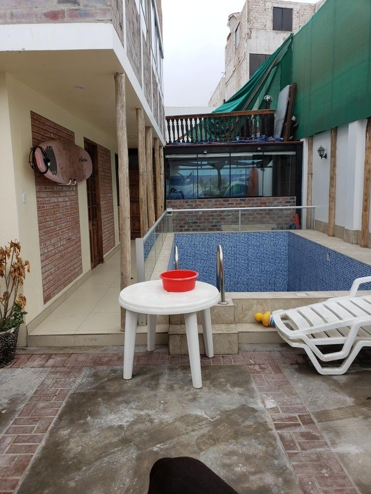 alquiler casa de playa, piscina grande