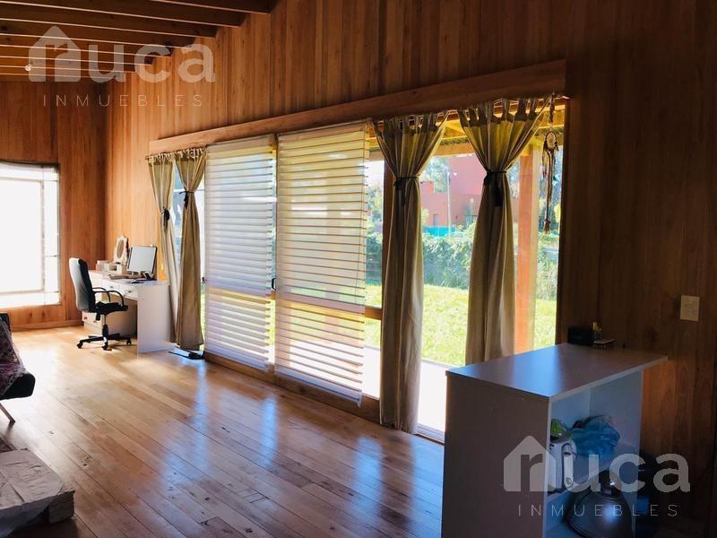 alquiler| casa madera a estrenar en barrio las chacras