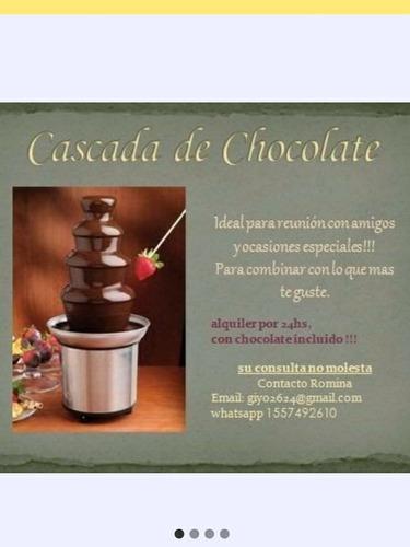 alquiler cascada con chocolate incluido