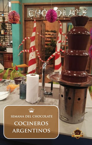 alquiler cascada de chocolate $3500 hasta 40 invitados